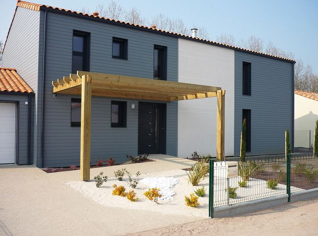 Maisons En Bois Gris Moderne Maison Bois Maison Ossature Bois Maison