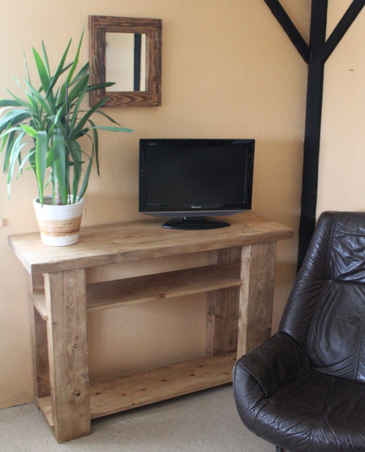 handmade available on Etsy UK #rustic #TV #stand in #eco-friendly #solid #wood  available to order on #Etsy #UK prices from £220, designed by Marc and #handmade by our small team at #MarcWoodJoinery #Somerset #UK #custom sizes on request. #design #country