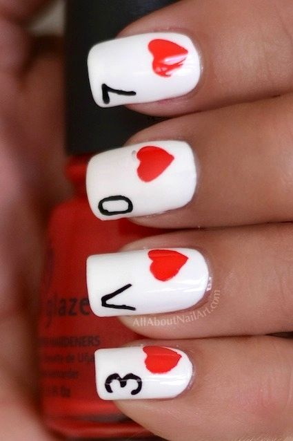 Card Nail Design For Valentine S Day