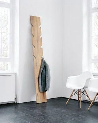#DIY Idea: Turn a board into a coat hanger