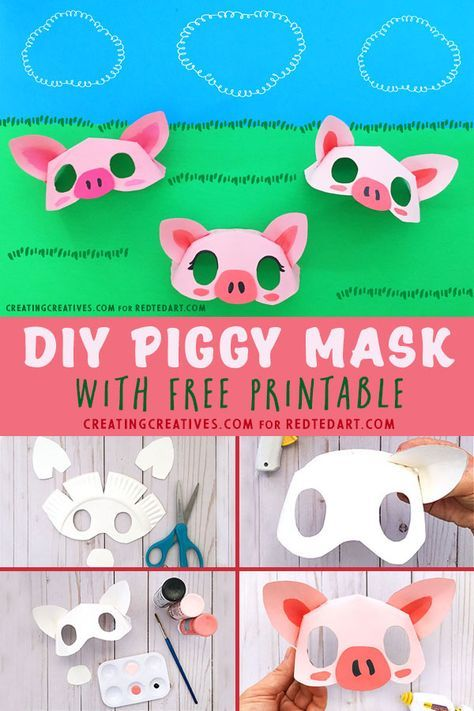 paper plate pig mask template diy and crafts pinterest pig