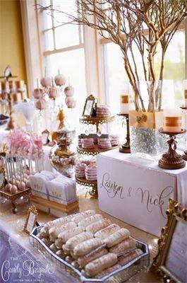 12 best Blush & Gold Wedding | Candy Buffet images on Pinterest ...