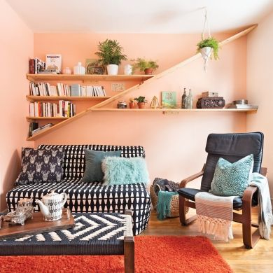 Étagères design au salon - Salon - Inspirations - Décoration et rénovation - Pratico Pratique