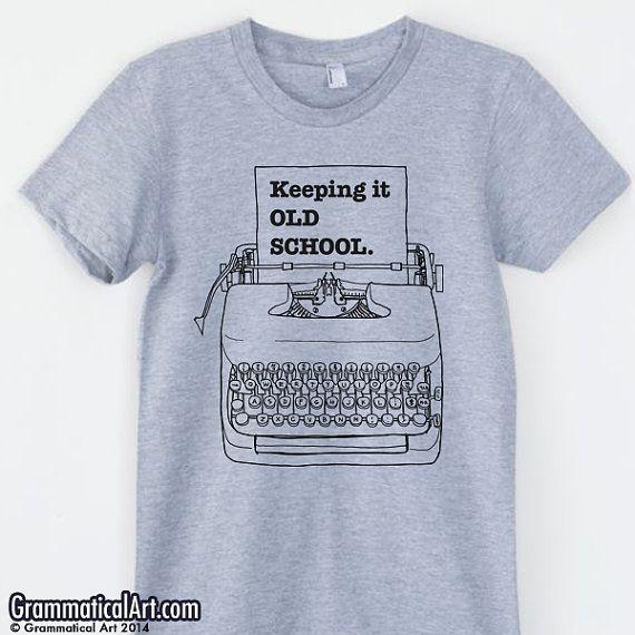 Typewriter Shirt Hipster Shirt Copywriter by GrammaticalArt, $22.00