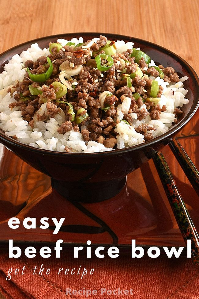 Easy Korean Ground Beef Rice Bowl On The Table In 20 Min Recipe In 2020 Beef Rice Bowl Recipe Beef And Rice Ground Beef Rice