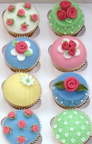 Cath Kidston Style Cupcakes #baking
