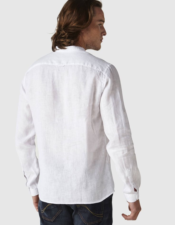 les 25 meilleures id es de la cat gorie chemise col mao sur pinterest col mao chemise col. Black Bedroom Furniture Sets. Home Design Ideas