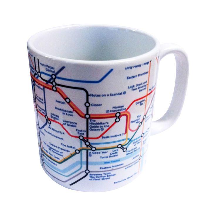 Underground Film Map Ceramic Mug London