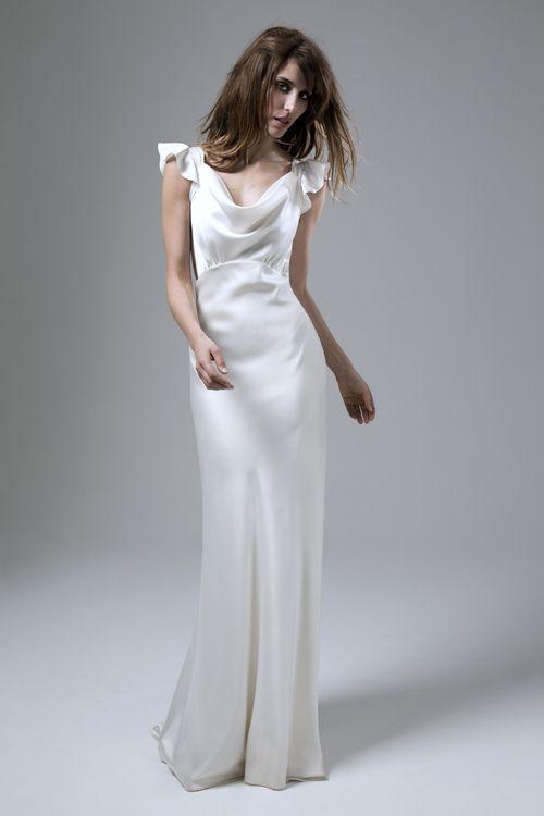 Best 25 cowl wedding dress ideas on pinterest vintage for Satin cowl neck wedding dress