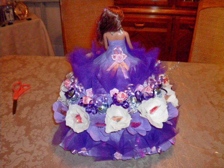 Dolls Made With Candy Crafts By Yvonne Doll Centerpiece