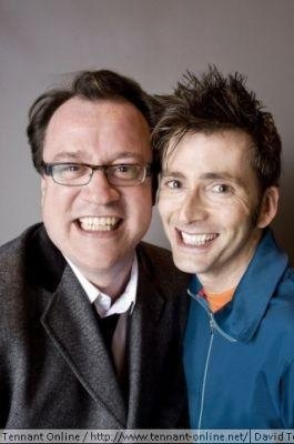 So adorable. Russel T. Davies and David Tennant.