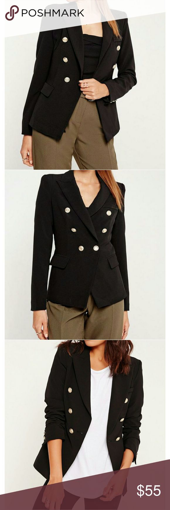 Missguided black military blazer Brand new Missguided Jackets & Coats Blazers