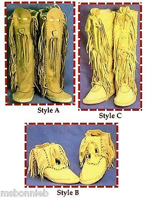 Native American Shawnee Indian Moccasin Sewing Pattern - Ankle or Knee High in Crafts | eBay
