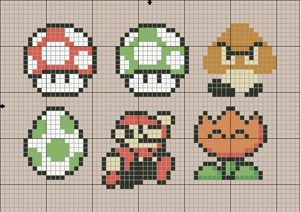 Mario cross stitch patterns