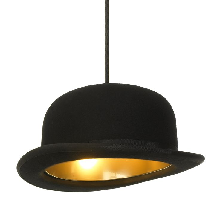 Jeeves Bowler Hat Lamp Shade by Jake Phipps / Innermost – Funky Lamp Shades On Sale!!