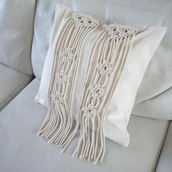 Check out this item in my Etsy shop https://www.etsy.com/uk/listing/526462551/macrame-cushion-cover-cream-cushion