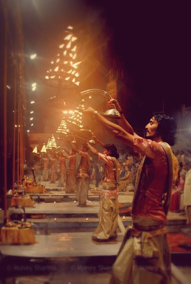 Ganga Aarti, Varanasi...spellbinding worshipping ritual of mother Ganges. ..every day at dusk..