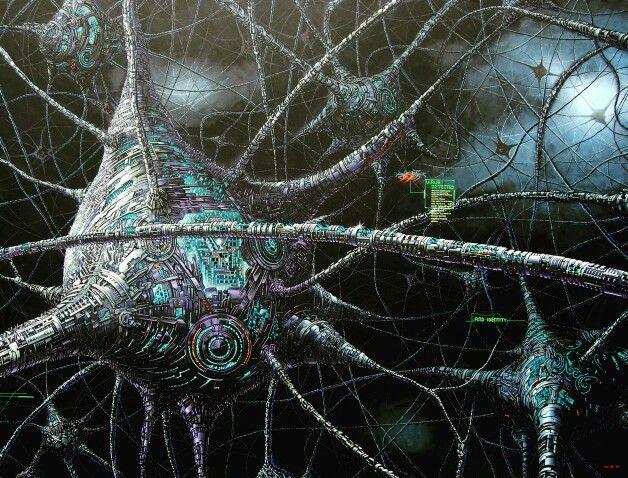 TriWahono#Brain#painting#AcrylicOnCanvas#futuristicArt