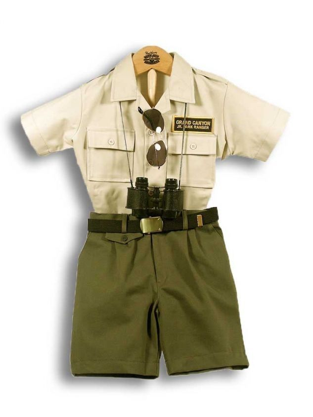 Children's Junior Park Ranger costume.If i ever have children i will take them to every national park and they will dress up like rangers. So freaking adorable:)