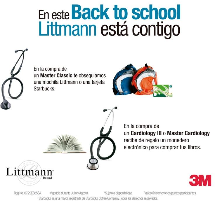Promociones de vuelta a clases con estetoscopios #Littmann