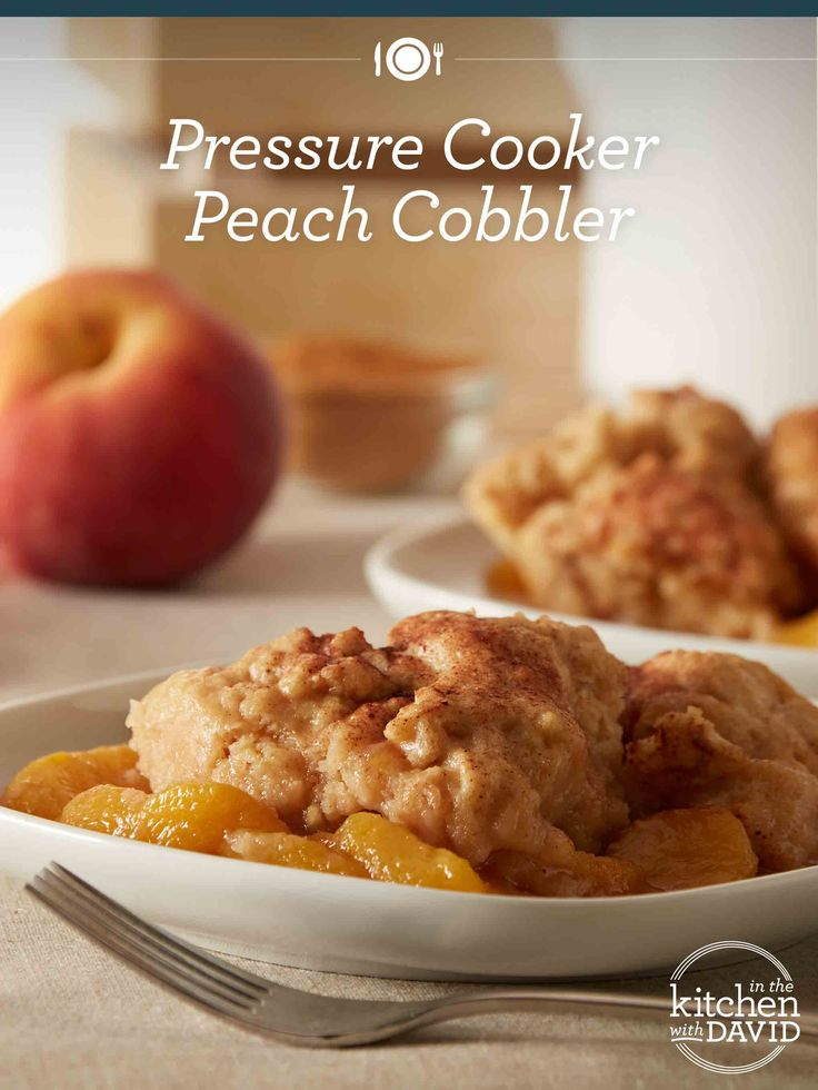 The perfect peach cobbler!