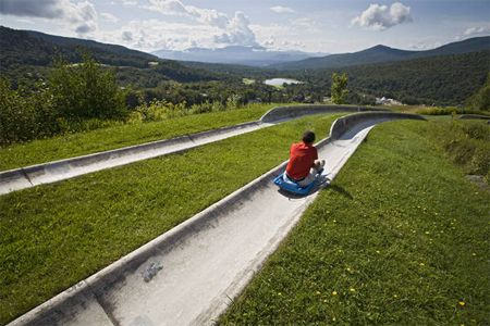Alpine Slide at Stowe. Expensive but fun.