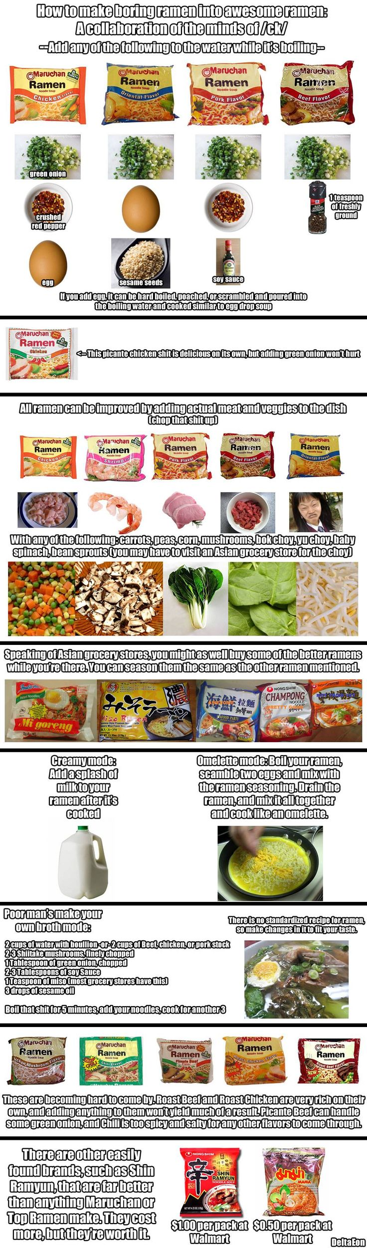 Best Ways to Make the Most of Your Instant Ramen Meal --- We've all been there - and many of us are still there. That phase in our lives where the taste of instant ramen is a recurring thing in our lives. Tired of the same old 5 flavors of instant top ram...
