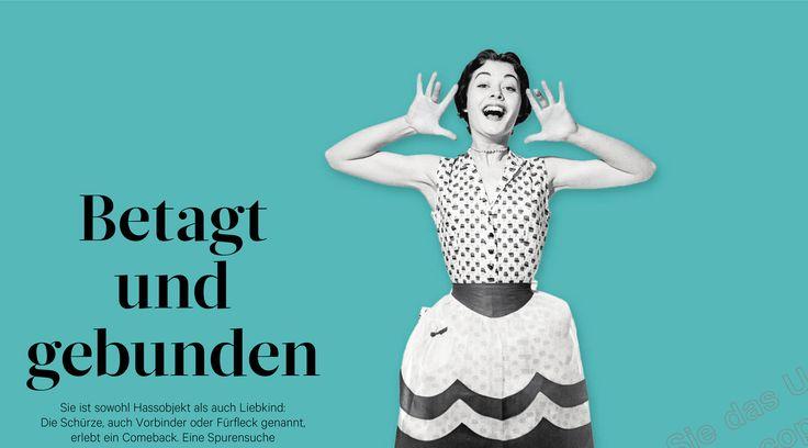 RONDO-Artikel im Standard - Sie ist sowohl Hassobjekt als auch Liebkind: Die Schürze, auch Vorbinder oder Fürfleck genannt, erlebt ein Comeback.