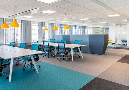 burmatex | carpet tiles | commercial carpets | carpet sheets | news | burmatex carpet tiles in Sweden's Best Looking Office 2013