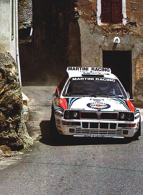 Didier Auriol - Bernard Occelli. Lancia Delta HF Integrale. Rallye Tour de Corse.