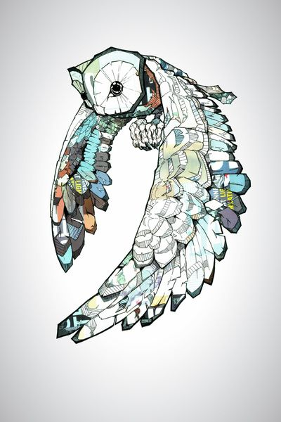 """Owl. I LOVE the """"stained glass"""" quality this has."""