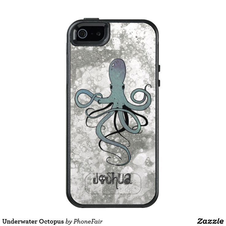 Underwater Octopus iPhone SE/5/5s Case - personalize with your name