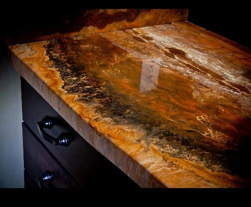 Paint Mdf Countertop : MDF, paint and apoxy. Super cool and cheep durable counter tops ...
