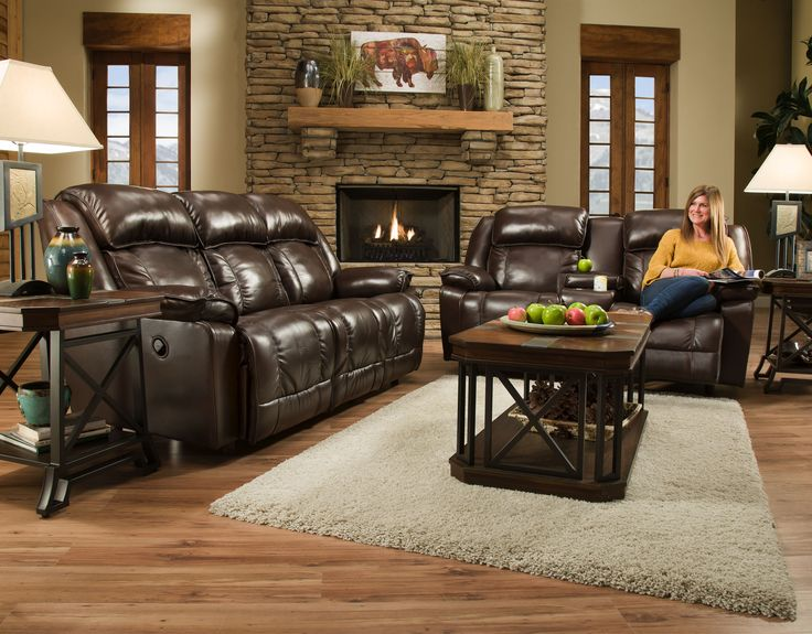 Quincy Man Cave : Quincy leather reclining sofa from franklin