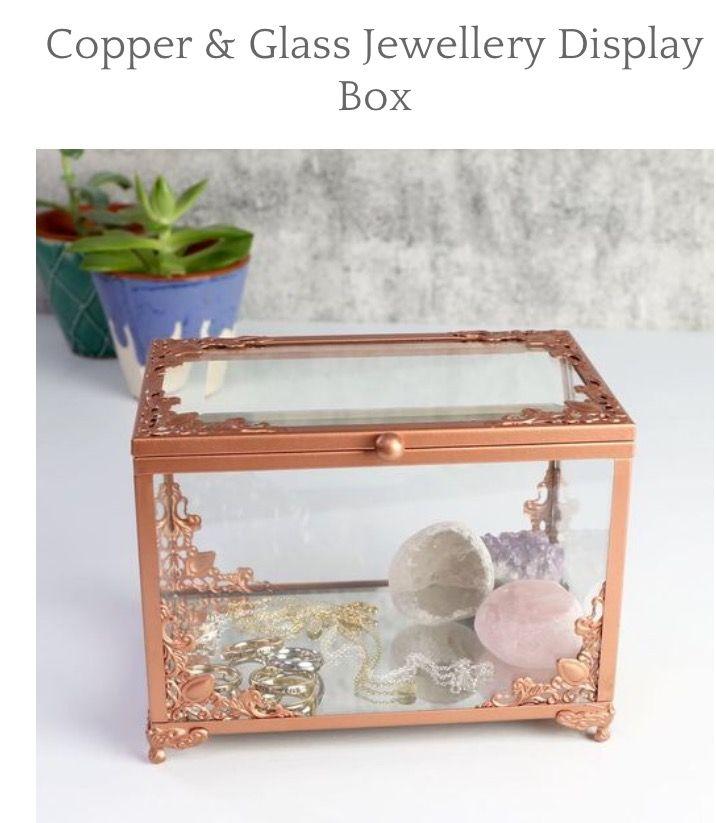 Lisa's angel copper & glass jewellery display box 💍