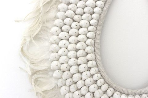 Sofia Large Feather and Shell Boho Necklace $310.00 (https://norsu.com.au/collections/boho-luxe-living-room)