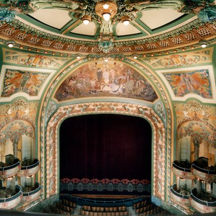 New Amsterdam Theater, NYC, a  landmark Art Nouveau-style theater where many of the Follies were produced.