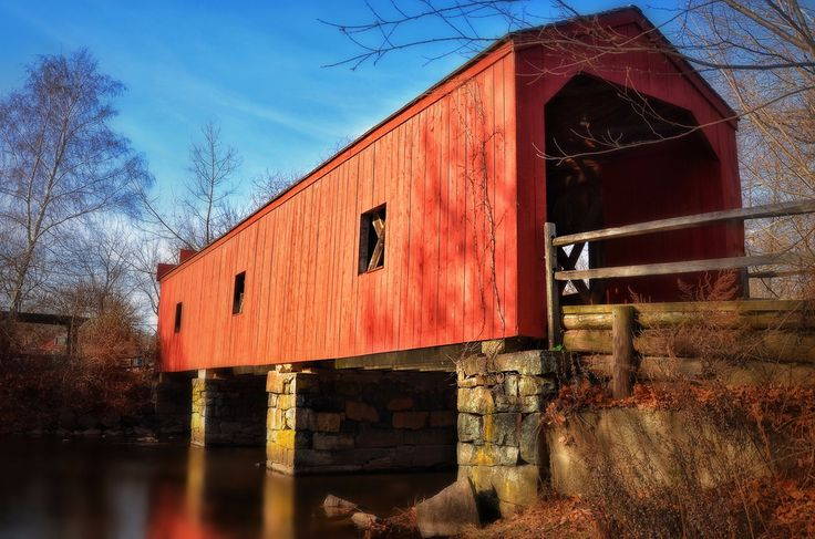 Eli Whitney Museum Covered Bridge in Hamden, CT