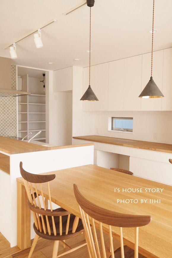 キッチン横並びダイニングのあるLDK♪暮らしPHOTO@大宮の家   いいひブログ - いいひ住まいの設計舎