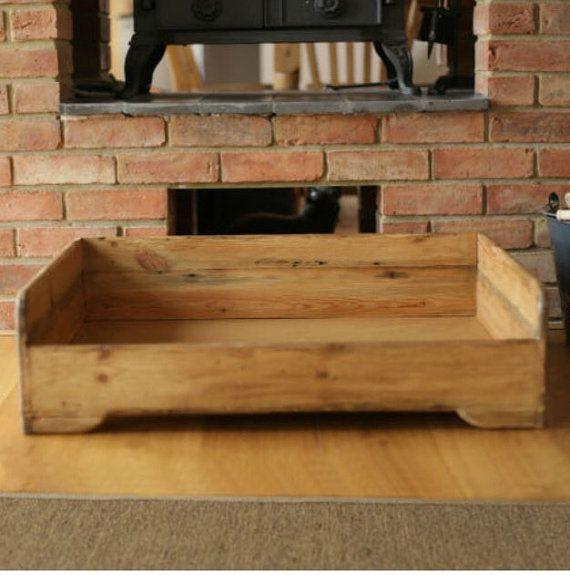 Hunt & Wilson handmade wooden dog bed large by 4legsonline on Etsy More