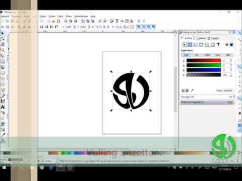Hoe een lijn en/of vlak instellen om uit te snijden in Inkscape?