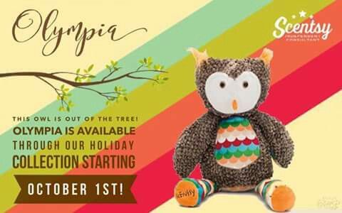 Olympia, our newest scentsy buddy!! Available October 2016! Comes with a #free scent pak!