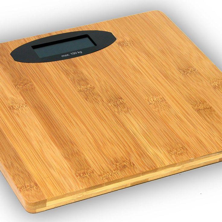 Holz Waage   Bambus Personenwaage, digitale Körperwaage fürs Bad, digital, NEU
