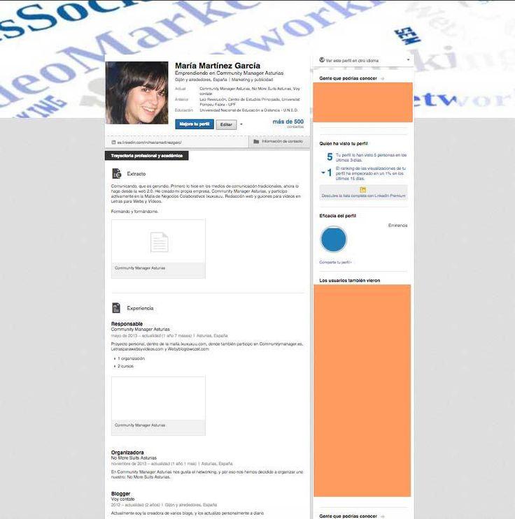 Actualizar el perfil de LinkedIn Perfil, Infografia y