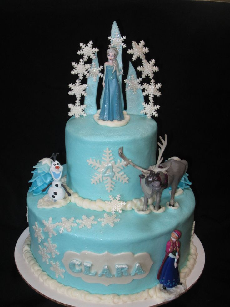 Quot Frozen Quot Inspired Cake With Anna Elsa Olaf And Sven