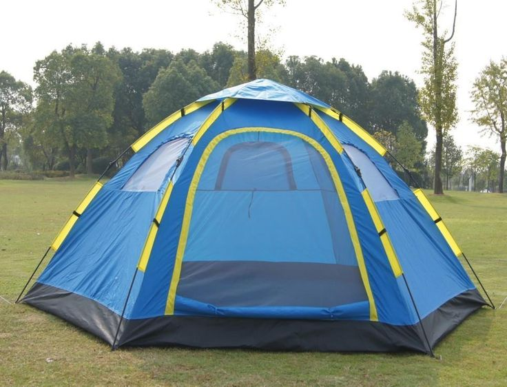 Outdoor 5-8 Person automatic Camping tents double layer 6 family camping Tourist tent 240 * 305 * 140cm
