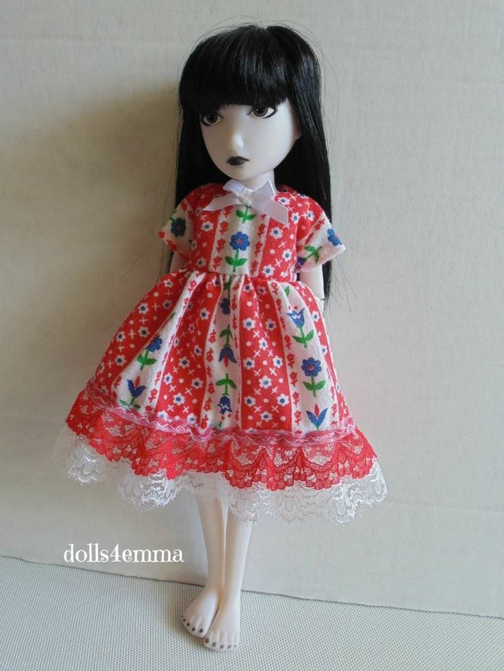 Sweet Baby-Doll DRESS Handmade Clothes for EMILY the STRANGE Fashion Available on ebay ~ by DOLLSEMMA