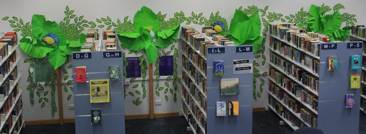 Immanuel College Resource Centre. Book Week 2016 : Australia : Story Country. We are decorating our library with different Australian landscapes. Here we have the tropical rain forest of Queensland!