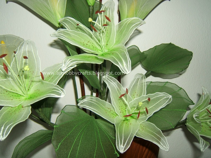 Art Hobby Crafts: Stocking flowers - Asiatic Lily and Calla Lily