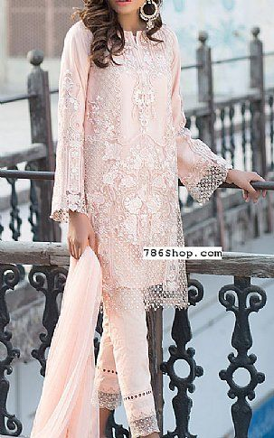 Light Peach Chiffon Suit | Buy Mausummery Eid Collection Pakistani Dresses and Clothing online in USA, UK
